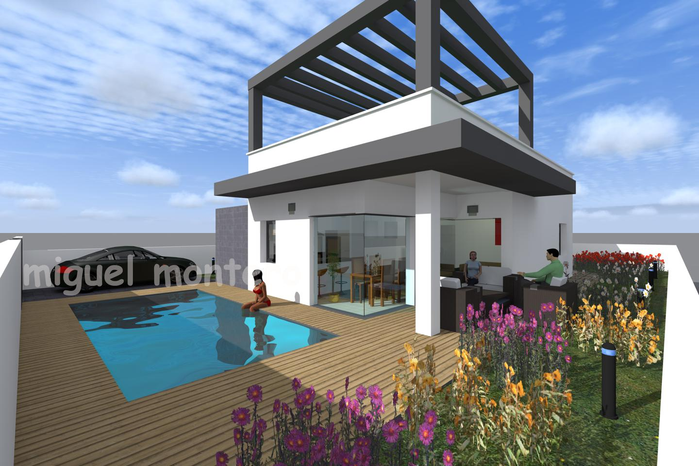 Villas with high qualities, private pool and large solarium!  New development with villas offering a, Spain